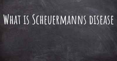 What is Scheuermanns disease