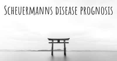 Scheuermanns disease prognosis