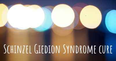 Schinzel Giedion Syndrome cure