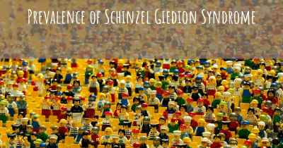 Prevalence of Schinzel Giedion Syndrome