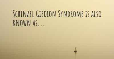 Schinzel Giedion Syndrome is also known as...
