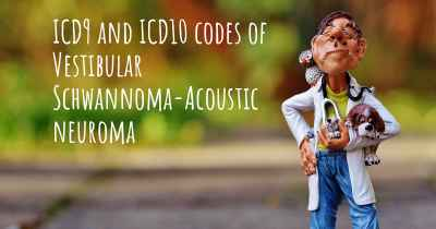 ICD9 and ICD10 codes of Vestibular Schwannoma-Acoustic neuroma