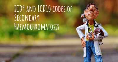 ICD9 and ICD10 codes of Secondary Haemochromatosis