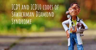 ICD9 and ICD10 codes of Shwachman Diamond Syndrome