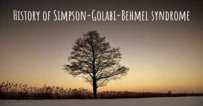 History of Simpson-Golabi-Behmel syndrome