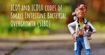 ICD9 and ICD10 codes of Small Intestine Bacterial Overgrowth (SIBO)