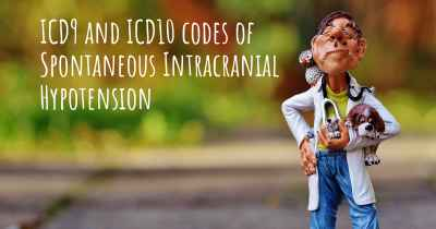 ICD9 and ICD10 codes of Spontaneous Intracranial Hypotension