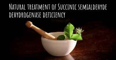 Natural treatment of Succinic semialdehyde dehydrogenase deficiency