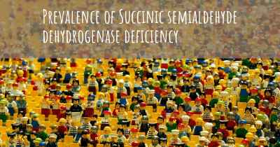 Prevalence of Succinic semialdehyde dehydrogenase deficiency