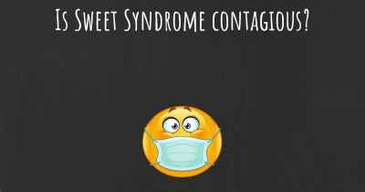 Is Sweet Syndrome contagious?