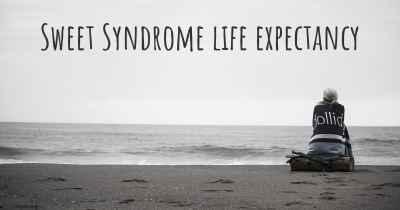 Sweet Syndrome life expectancy