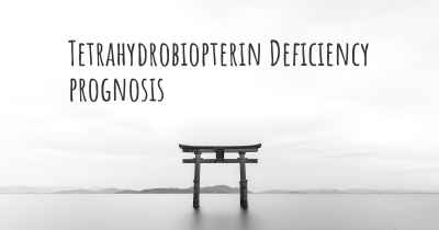 Tetrahydrobiopterin Deficiency prognosis