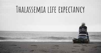 Thalassemia life expectancy
