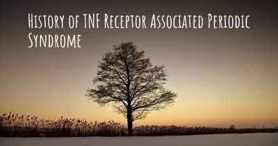 History of TNF Receptor Associated Periodic Syndrome