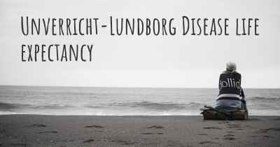 Unverricht-Lundborg Disease life expectancy