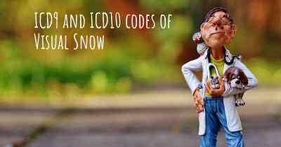 ICD9 and ICD10 codes of Visual Snow