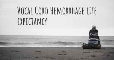 Vocal Cord Hemorrhage life expectancy