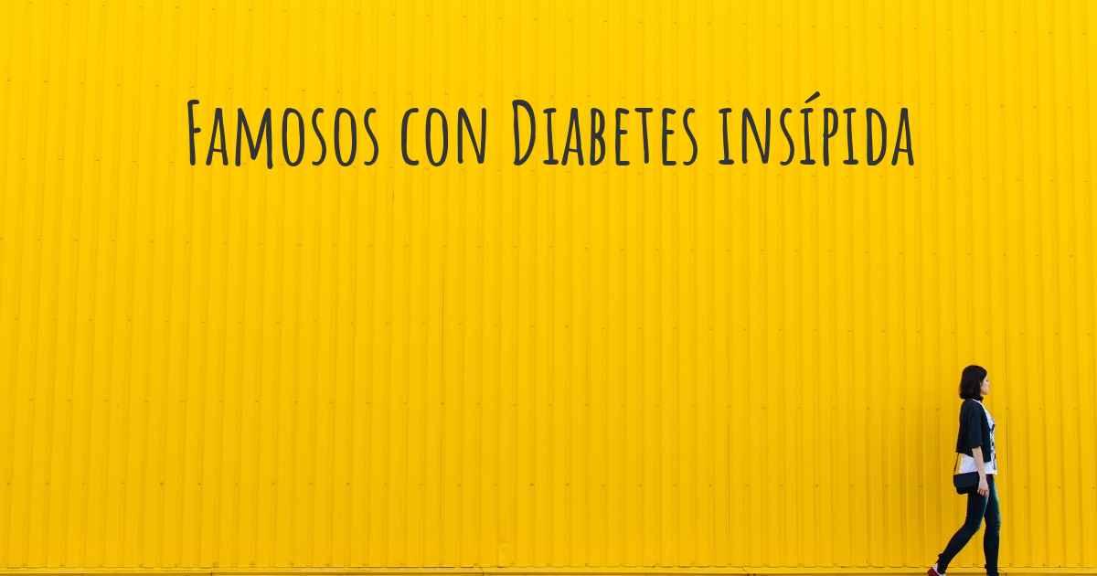 famosos famosos con diabetes