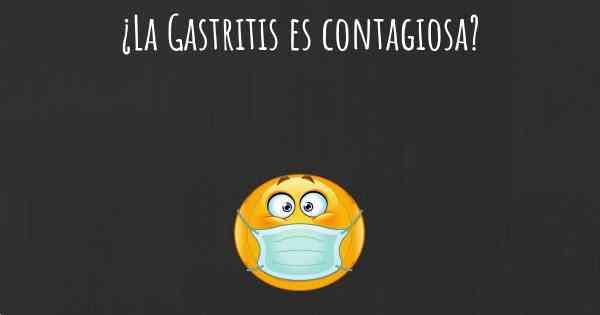 La gastritis se contagia