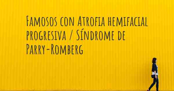 tratamiento para sindrome de parry-romberg