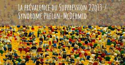 La prévalence du Suppression 22q13 / Syndrome Phelan-McDermid