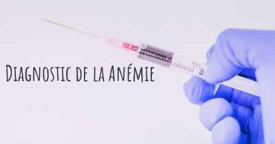 Diagnostic de la Anémie