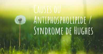 Causes du Antiphospholipide / Syndrome de Hughes