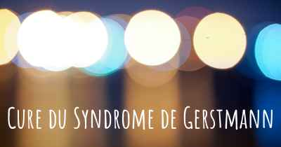 Cure du Syndrome de Gerstmann