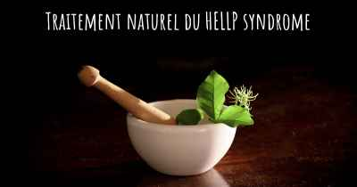 Traitement naturel du HELLP syndrome