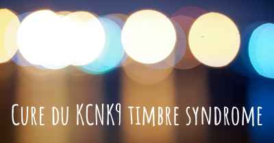 Cure du KCNK9 timbre syndrome