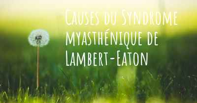 Causes du Syndrome myasthénique de Lambert-Eaton