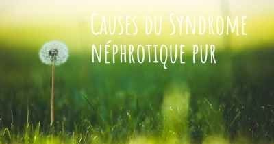 Causes du Syndrome néphrotique pur