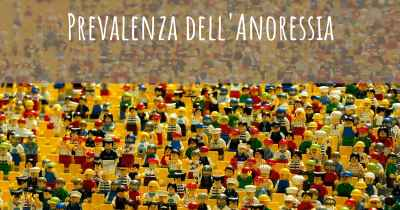 Prevalenza dell'Anoressia