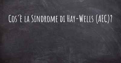 an introduction to hay wells syndrome Lies, or as part of a well-defined syndrome  (edward's syndrome) (5), hay-wells  syndrome (a va-  afa is diagnosed clinically and the treatment consists.