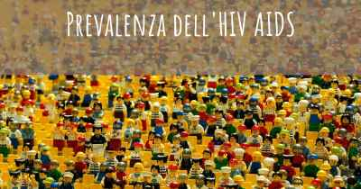 Prevalenza dell'HIV AIDS