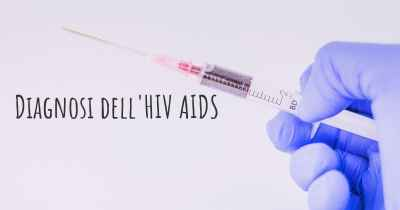 Diagnosi dell'HIV AIDS