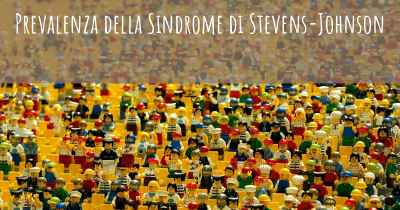 Prevalenza della Sindrome di Stevens-Johnson