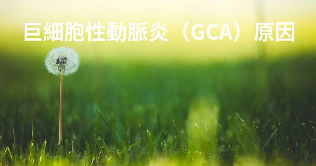 巨細胞性動脈炎(GCA)の原因はどれですか?