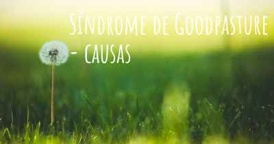Síndrome de Goodpasture - causas