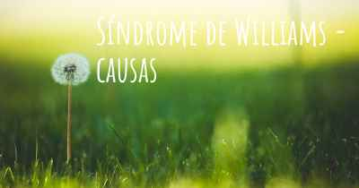 Síndrome de Williams - causas