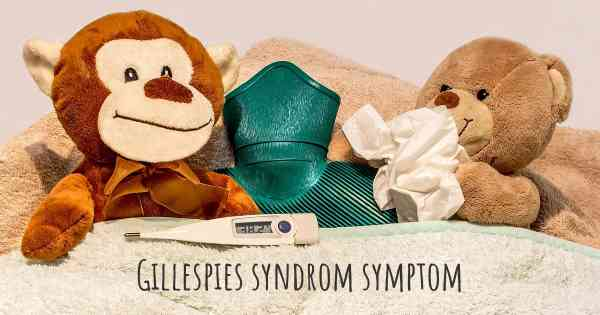 Gillespies syndrom symptom