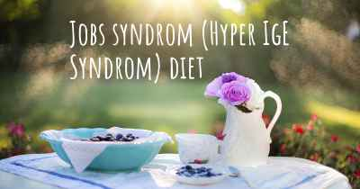 Jobs syndrom (Hyper IgE Syndrom) diet