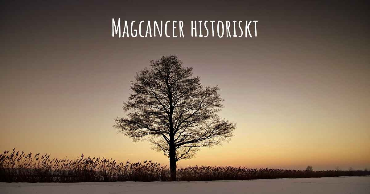 tecken på magcancer
