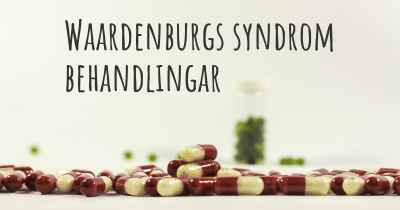 Waardenburgs syndrom behandlingar
