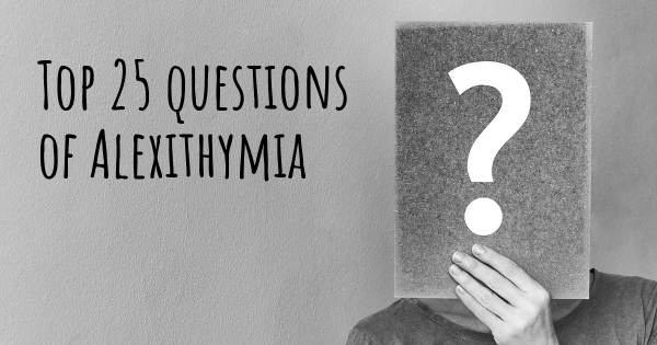 Alexithymia top 25 questions