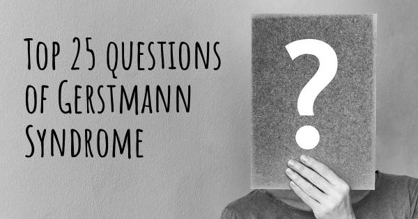Gerstmann Syndrome top 25 questions