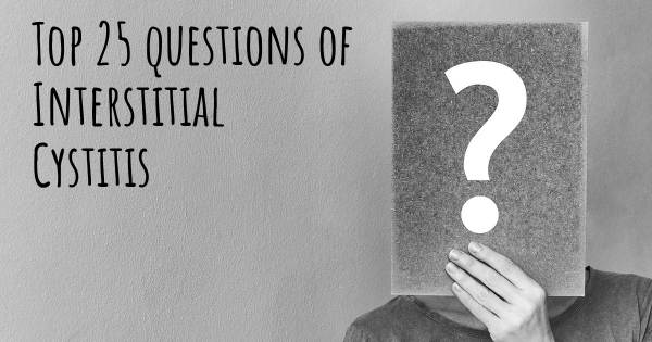 Interstitial Cystitis top 25 questions