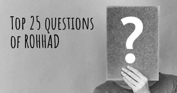 ROHHAD top 25 questions