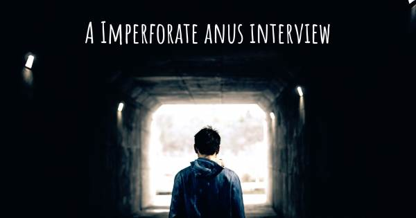 A Imperforate anus interview