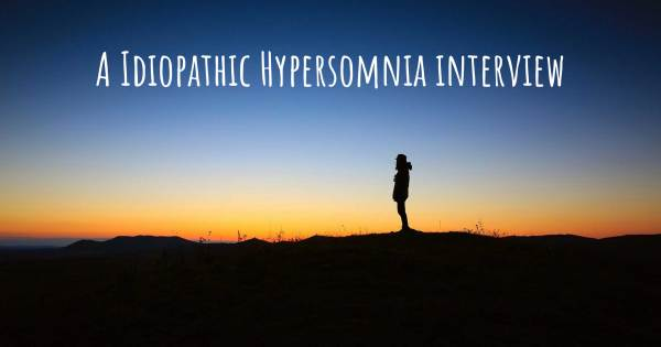 A Idiopathic Hypersomnia interview